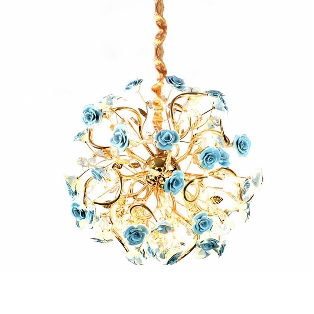 Französisch Pastoral Lüster Warm und Romantisch Kristalle Glas LED ...