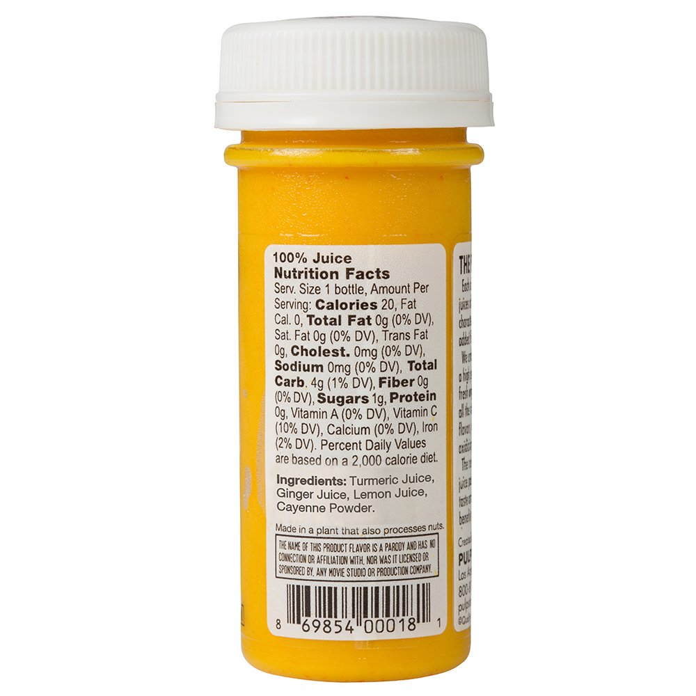 PULP STORY Some Like It Spicy Cold Pressed Turmeric Juice Wellness Shots, 2 Ounce Single Servings, 16 Count by PULP STORY (Image #2)