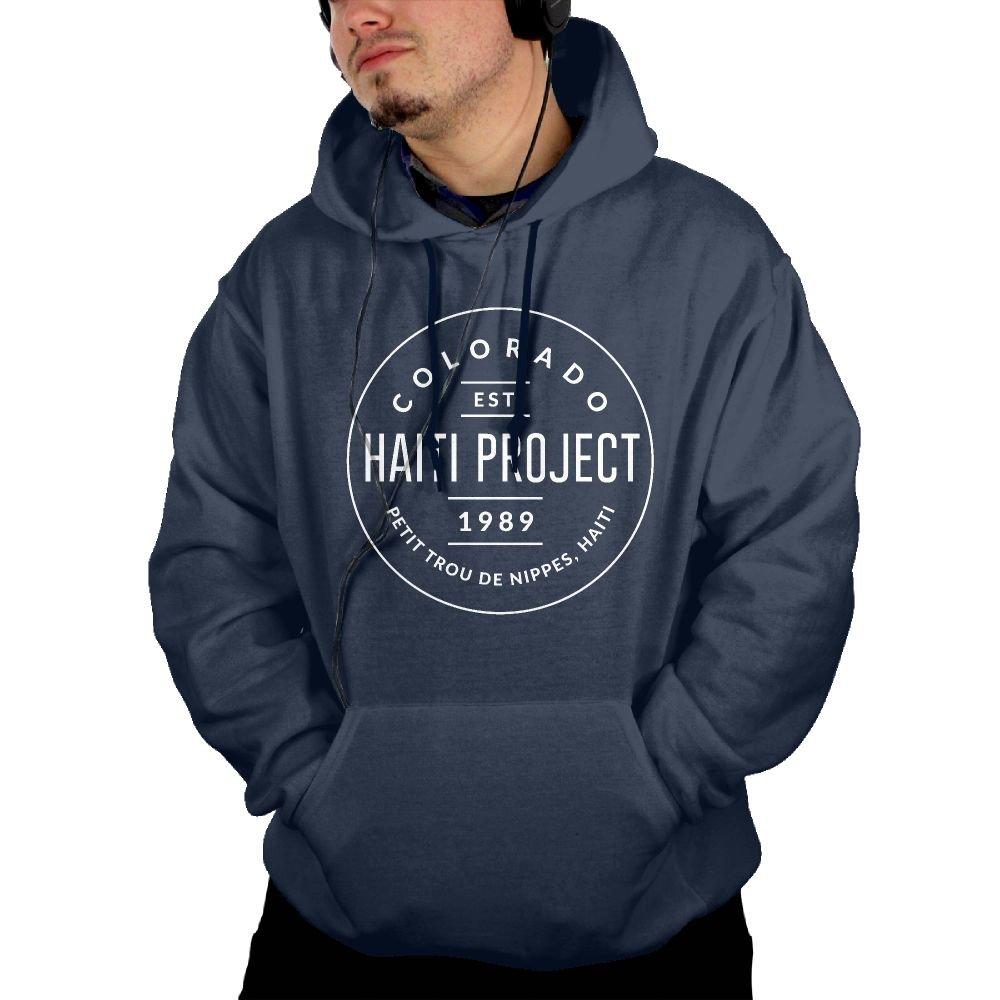 TAVJCFW Generous Design Male Colorado Hoodie Black Winter