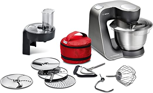Bosch MUM59N26DE - Robot de cocina (3,9 L, Acero inoxidable ...