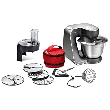 Bosch MUM5 MUM59N26DE HomeProfessional Küchenmaschine (1000 W, 3  Profi-Rührwerkzeuge Edelstahl, spülmaschinenfest, Rührschüssel 3,9 Liter,  ...