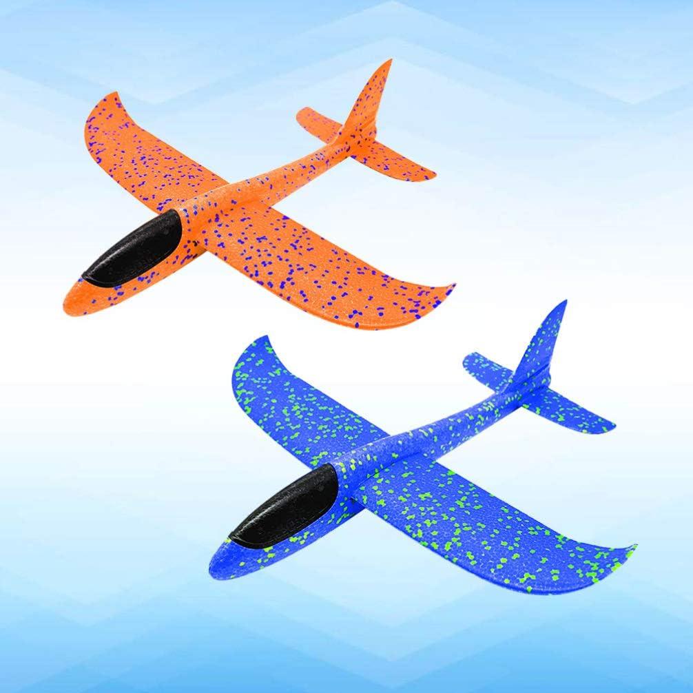 Toyvian 2 St/ücke Kinder Flugzeug Spielzeug Schaumstoff Flugzeug Modell 48cm Wurf Segelflugzeug Jungen Kleinkinder Outdoor Spielen Spielzeug Geschenk Party Mitgebsel Kindergeburtstag