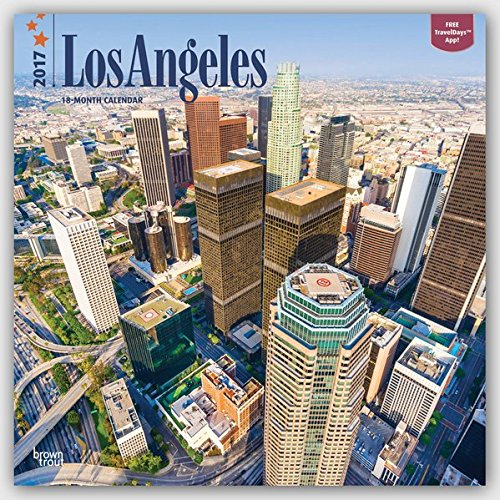 Los Angeles 2017-18-Monatskalender mit freier TravelDays-App: Original BrownTrout-Kalender [Mehrsprachig] [Kalender] (Wall-Kalender)