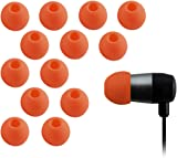 Xcessor High Quality Replacement Silicone Earbuds 7 Pairs (Set of 14 Pieces). Compatible With Most In Ear Headphone Brands (Medium, Orange)
