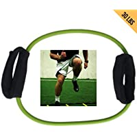 HCE Lateral Tube Resistance Band - 30 Lbs Arms, Thigh, Ankle, Leg Tube Strap Latex Cuffs Fitness Workout   Physical Therapy Rehab, Strength Training, Pilates, Yoga Exercise Bands for Home and Gym