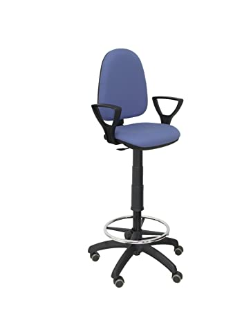 verstellbar in H/öhe und ARO Fu/ßst/ütze blau PIQUERAS Y CRESPO t04cp/ /ergonomischer Hocker