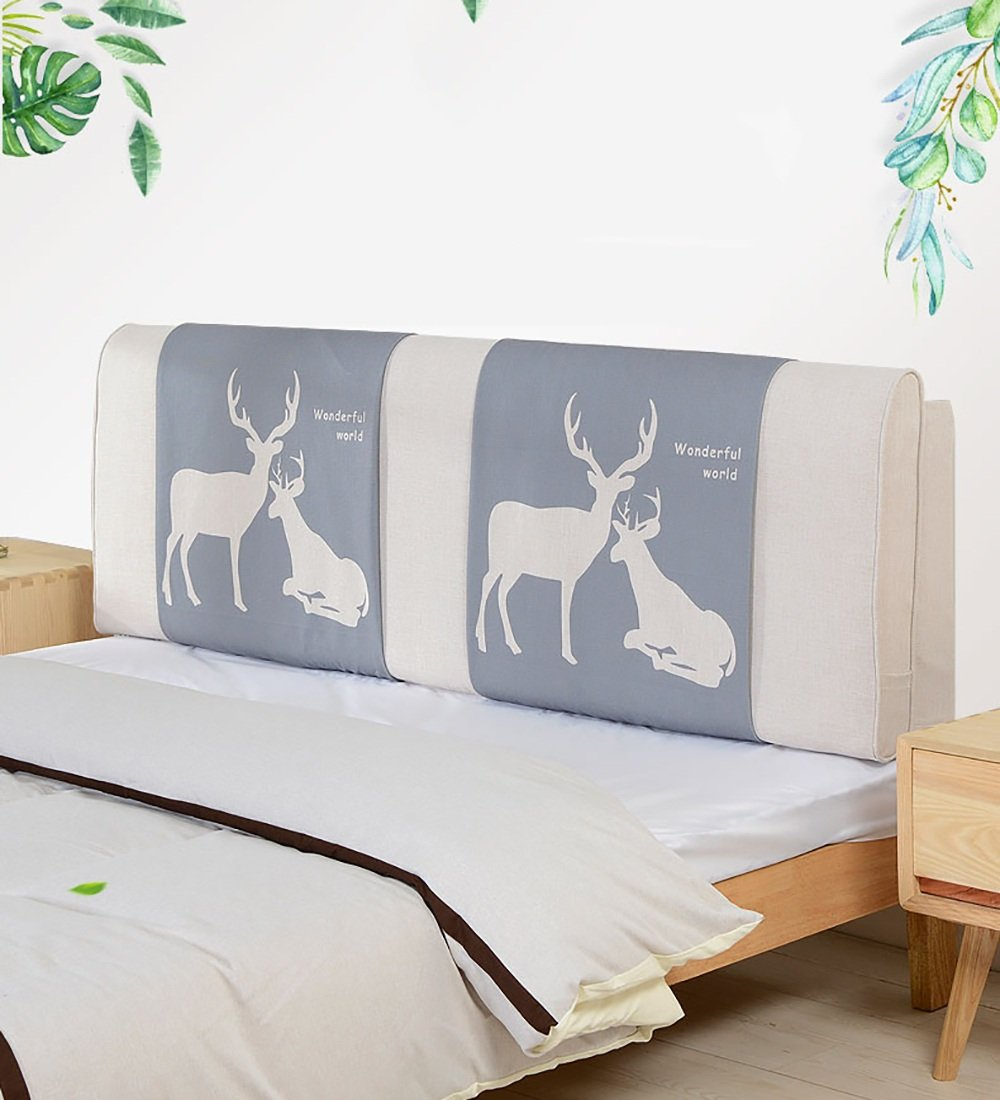 LIQICAI Formidable Monde Tête de lit Coussin Dossier Soutien pour Unique - Double - Grande taille- Lit Têtes de lit