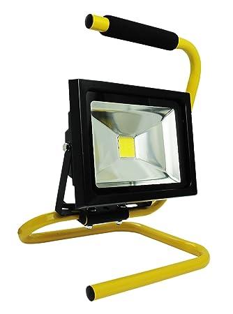 Proyector LED COB portátil 10 W negro obras - IP65 NF - equivalent ...