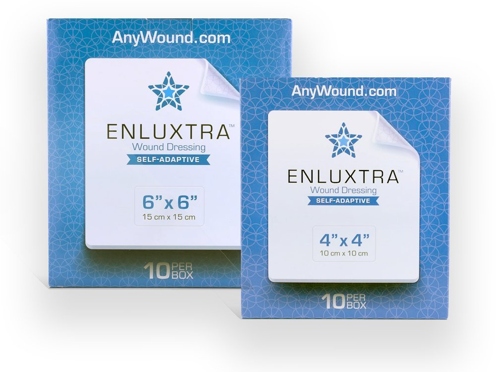 Amazon 004 Any Wound Dressing Box Of 10 Enluxtra 4x4 Self