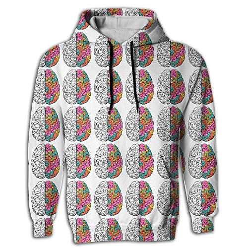Fantastic Human Brain Infographic Young Men Best Fashion Hoodie Sweatshirt With Pockets