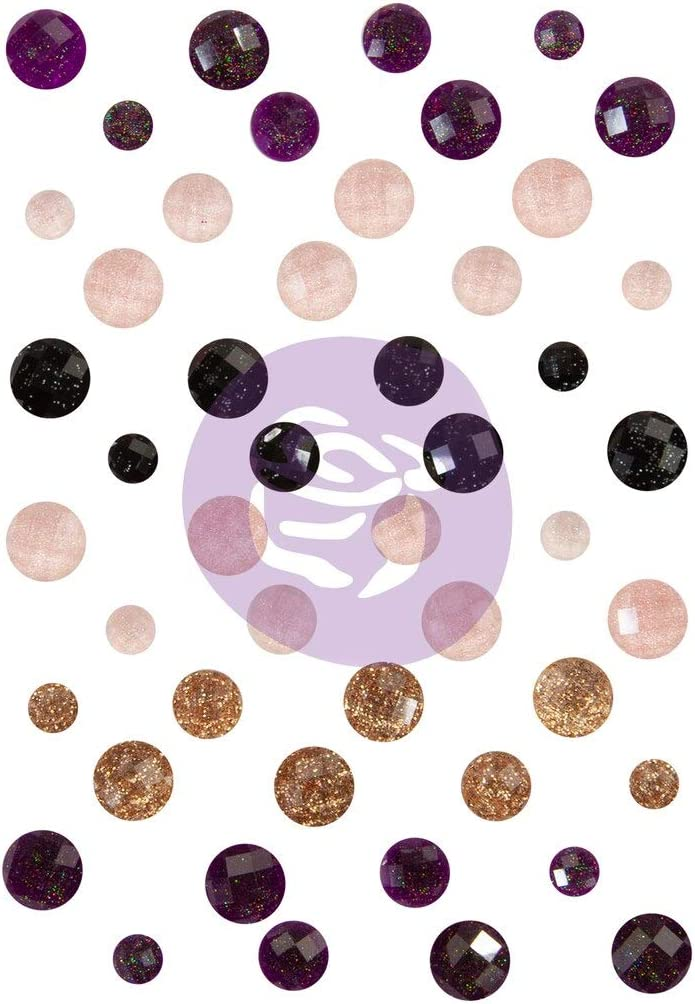 Prima Marketing Midnight Garden Say It in Crystals-Assorted Dots 48/Pkg
