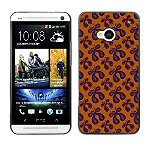 ZECASE Funda Carcasa Tapa Case Cover Para HTC One M7 No.0003437
