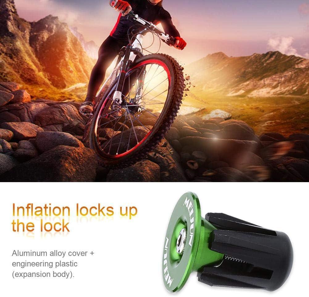 2 pz Tappo Manubrio per Bici Spina Colorata in Alluminio Manubrio per Bicicletta Manopole Tappi per estremit/à Tappo per Bici Bar Accessori Bici per Mountain Bike Bicicletta da Strada
