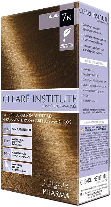 Colour Pharma| Tinte Sin PPD ni Amonicaco | Coloración Antiedad | 100% Cobertura de Canas Rebeldes, Con Serum Redensificante | 7N. Rubio | 180ml