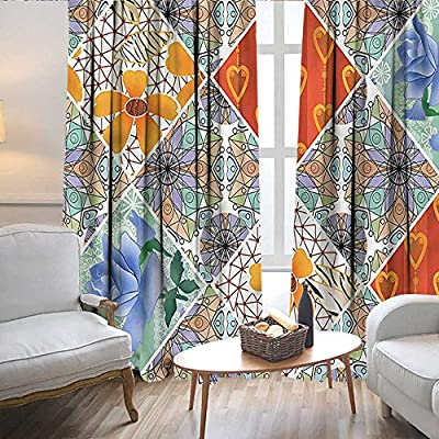 Lewis Coleridge Curtains for Living Room Country,Colorful Bohemian Woman,Complete Darkness, Noise Reducing Curtain