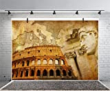 Leyiyi 8x6ft Photography Background Columbus Statue Backdrop Vintage Architecture Grunge Coloseum European Map Great Roman Empire Conceptual College Photo Portrait Vinyl Studio Video Shooting Prop