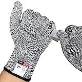 YENVINE Cut Resistant Gloves, Work Gloves,Digital High Performance Level 5 Protection, Food Grade Kitchen Glove (M)