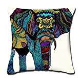 Decorative Pillow Cover - Amxstore Cotton Polyester Decorative Throw Pillow Cover Cushion Case Pillow Case,two side Awesome Colorful Elephant