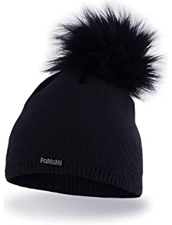 PaMaMi Ladies Thermal Winter Hat Warm Beanie Universal Size Skin ... 50c581d3e5b