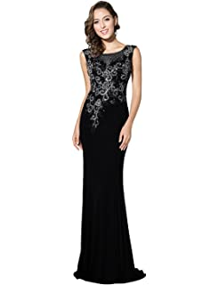 Sarahbridal Long Evening Dress Chiffon Prom Dresses Elegant Bridesmaid Dresses Party Gowns with Lace Applique for