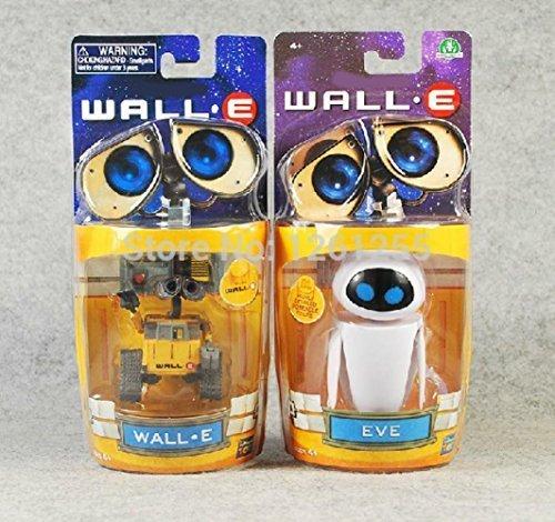 2Pcs/Set Wall-E Robot Wall E &Amp; Eve Pvc Action Figure Model Toys Dolls 6Cm