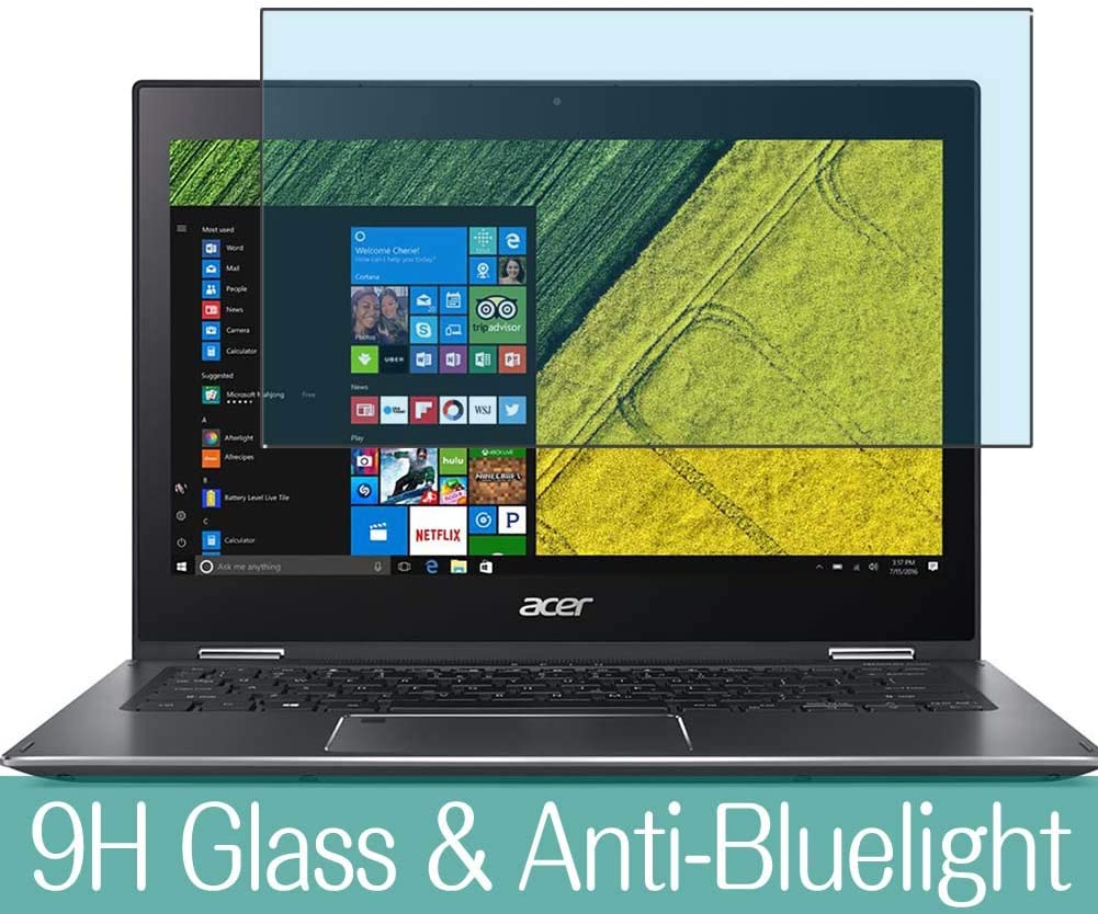 """Synvy Anti Blue Light Tempered Glass Screen Protector for Acer Spin 5 SP513-52N-N78U 2018 13.3"""" Visible Area 9H Protective Screen Film Protectors"""