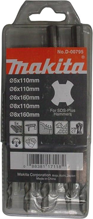 Makita D-00795 - Estuche de brocas SDS-PLUS Standmak: Amazon.es: Bricolaje y herramientas