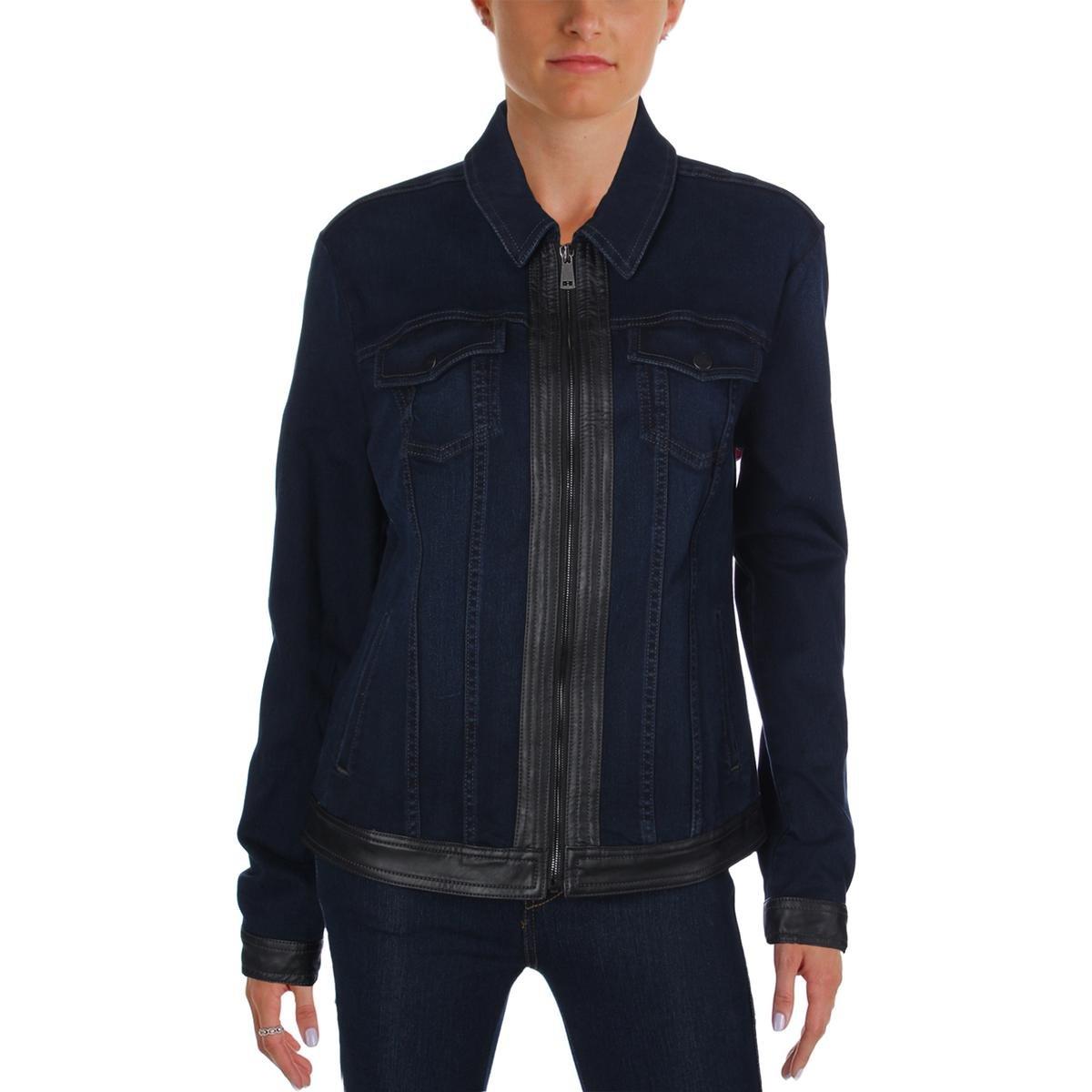 NYDJ Women's Veronica Jeans Jacket In Future Fit Denim, Paris Nights, Medium