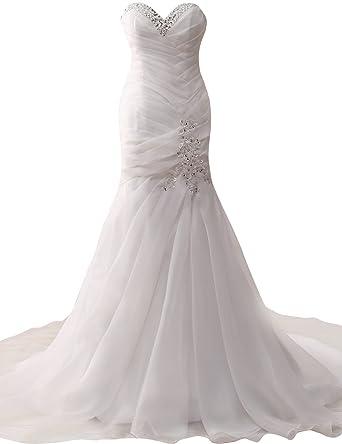 JAEDEN Strapless Wedding Dresses Bridal Gown Organza Corset Back ...