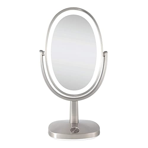 Zadro Newport Ultra Bright Adaptive Color LED Vanity Mirror 5X 1X Satin Nickel