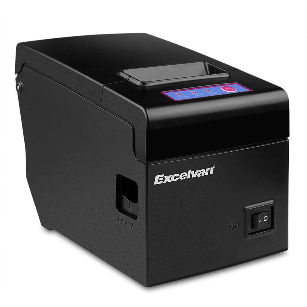 Excelvan Bluetooth 58 mm té rmico impresora de matriz para 83 mm Diá metro ESC/POS/USB para Android/iOS/Linux/Win2000/WIN2003/WinXP/Win7/Win8/Win8.1/Win10 negro E58