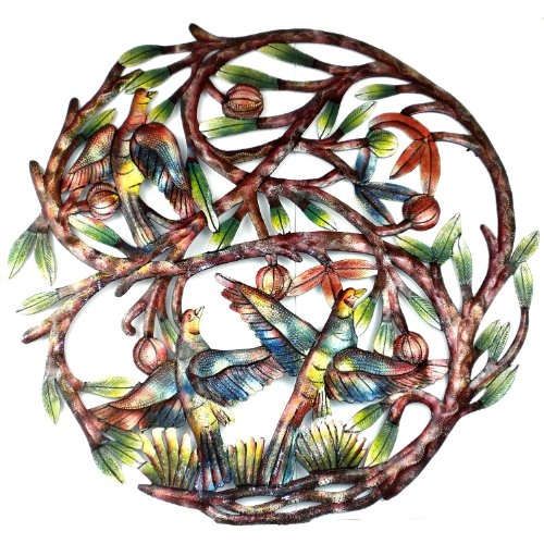 "Global Crafts 24"" Recylced Hand-Painted Haitian Metal Wall Art"