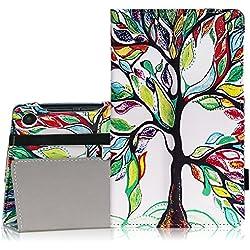Lenovo Tab 3 Essential Case - MoKo Slim Folding Cover Case for Lenovo Tab 3 Essential 7 Inch 2016 Released Tablet, Lucky TREE