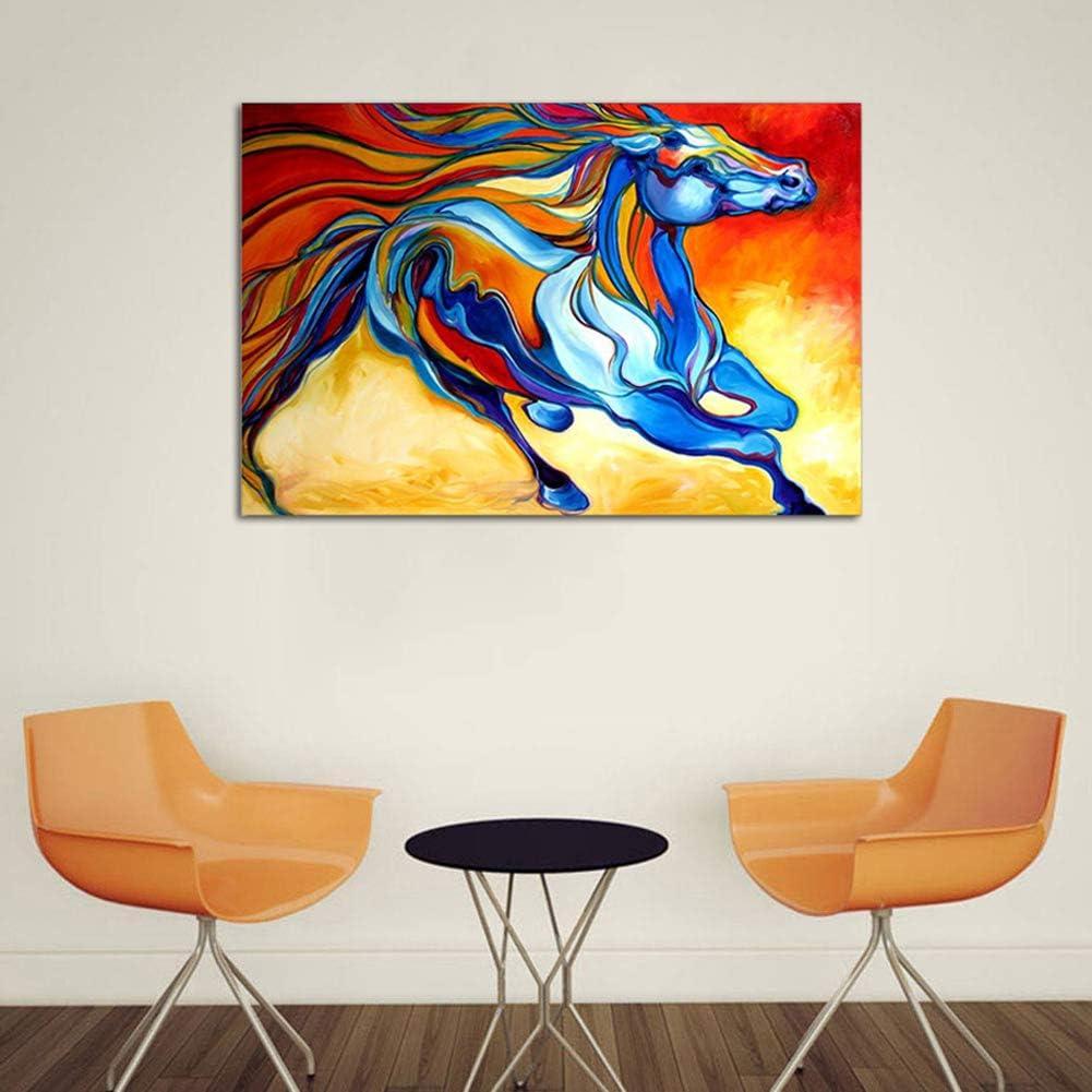 Colorido Lienzo Imprimir Pintura Caballo Corriendo Hermoso Hogar Decoración Arte Pintura Chorro De Tinta Animales Cuadro Pared Artesanías,Noframe,60x80cm