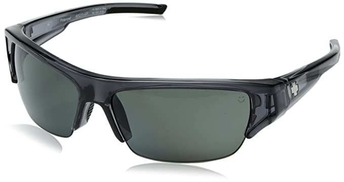 56dc0549f8f Spy Optic Unisex Stokes Clear Smoke Happy Gray Green Polarized Sunglasses
