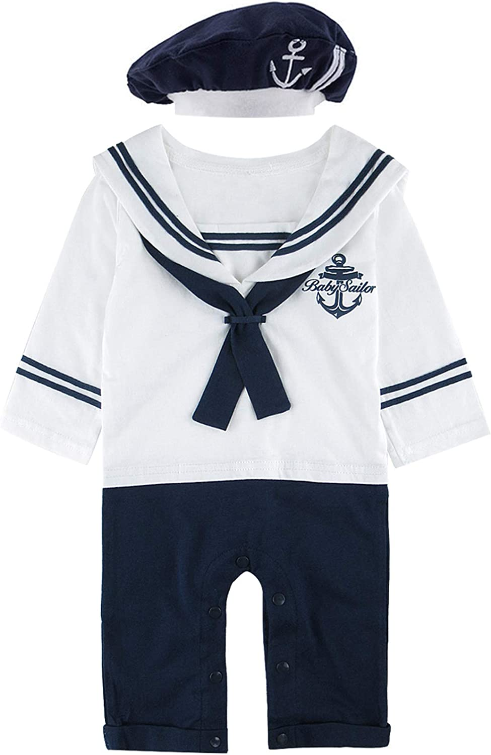 COSLAND Baby Sailor Outfit Nautical Boy Costume