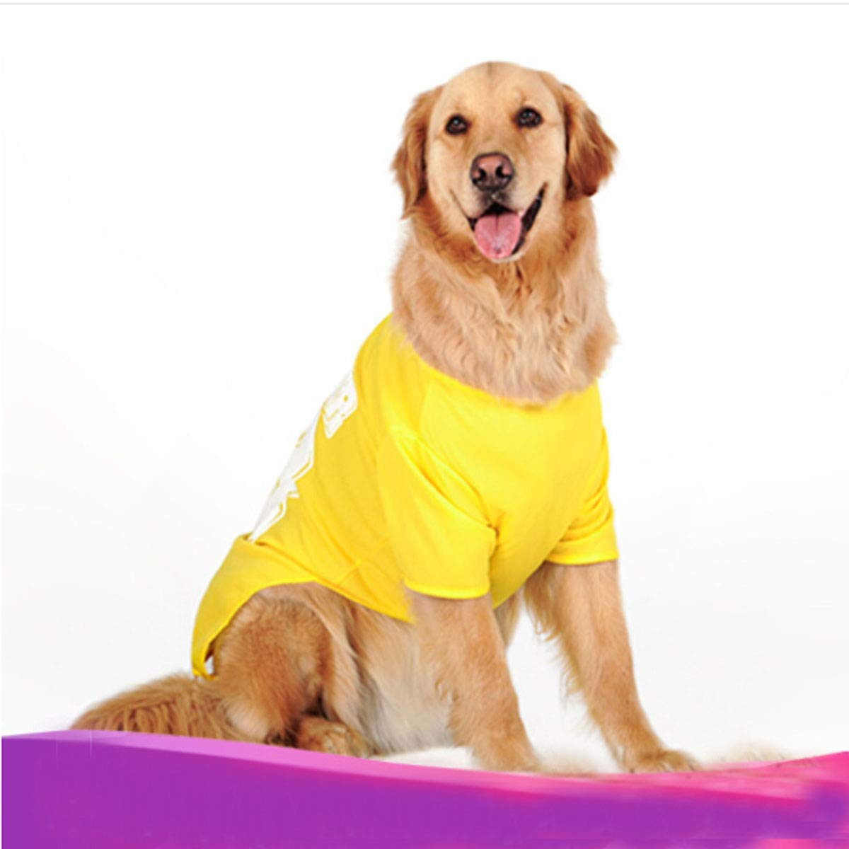 b681034526c2 Samoyed Golden Retriever Large Dog Puppies Kuqiqi Big Dog Clothes Sports  Vest Labrador Summer Dress Dog Thin Pet T-shirt ...
