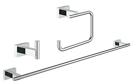 Grohe - Set de accesorios de baño Juego de baño 3 en 1 color Rectangular (