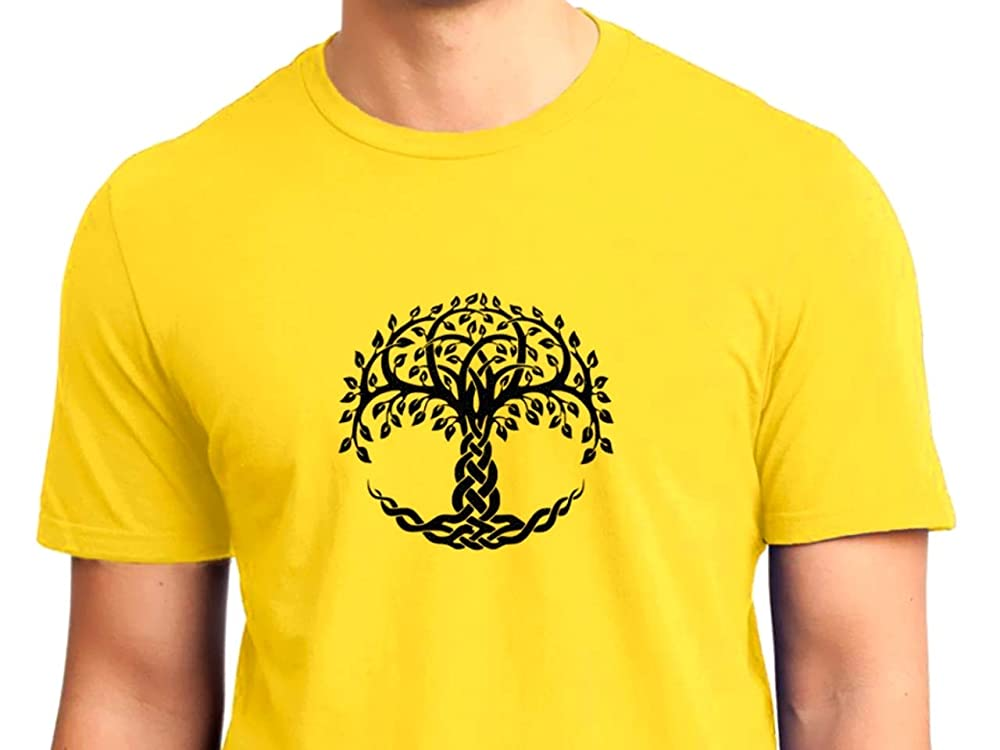 Símbolo Celta Árbol de la Vida Camiseta Hombre de Manga Corta: Amazon.es: Handmade