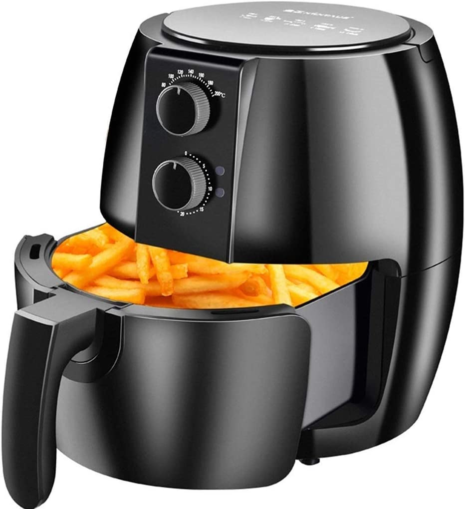 ZLJ Electric Air Fryer Household Multifunction Air Fryer, Multifunction Fat Oven Electric Fryer, Large Capacity Oil Free Electric Fryer (Color: Black, Size: 3327cm)