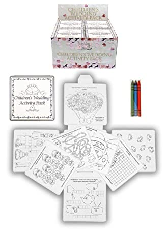 4 Wedding Childrens Activity Pack / Crayons Drawing Colouring Book ...