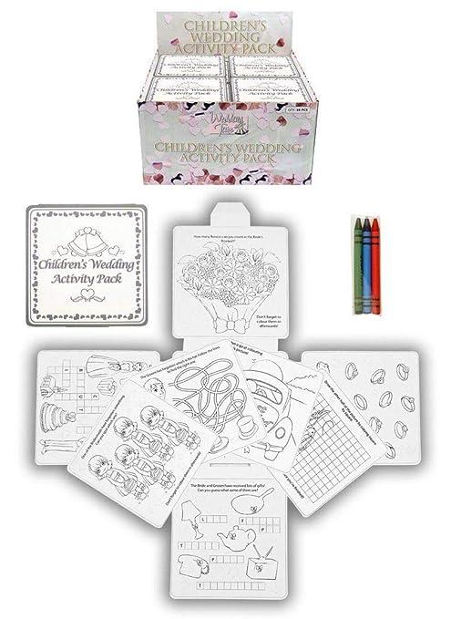 Attività Per Bambini Per Matrimonio Gesso Quaderno Per Disegnare