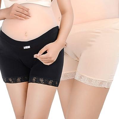 Heheja Sous-vêtements Maternité Femmes Enceintes Briefs Coton à Taille Basse en U Maternité Knickers