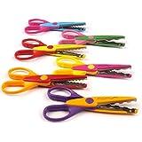 KABEER Art® Penha 6 Pieces Art and Craft Zig zag Paper Shaper Scissor Set- 1606-6