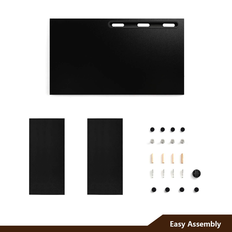 RFIVER Supporto per Monitor di Legno tavolino pc Nero CM1001