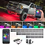 LEDGlow 6pc Million Color SMD LED Truck Underbody Underglow Lighting Kit - Bluetooth-Connected Smartphone App - 276 SMD LEDs - 16 Unique Fully Customizable Lighting Modes
