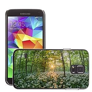 Cas Coq Case Cover // M00421447 Oso Bosque del ajo Sunset Sun // Samsung Galaxy S5 S V SV i9600 (Not Fits S5 ACTIVE)