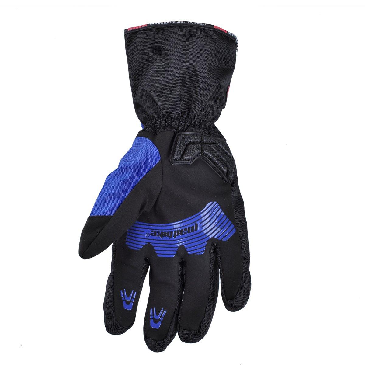 Madbike guanti da moto impermeabili con protezione in carbonio