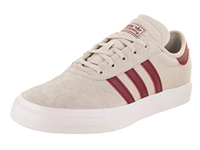 e48d50f9c92 adidas Skateboarding Men s Adi-Ease Premiere Crystal White Collegiate  Burgundy White 4 D