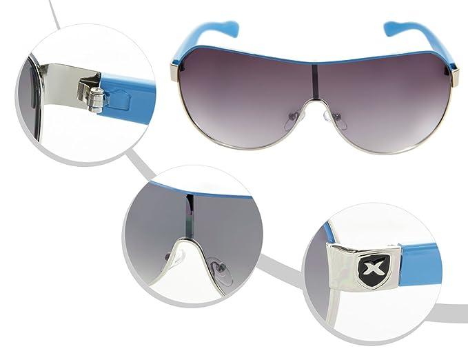 LOOX Sonnenbrille Herren Damen Retro Pilotenbrille Modell Cancun 102 von ALSINO, Variante wählen:LOOX-102 schwarz